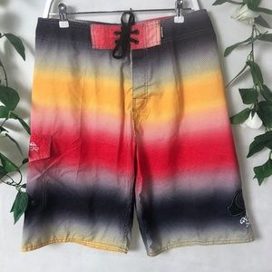 Quiksilver Sz 34 Board Shorts Unique Bright Style